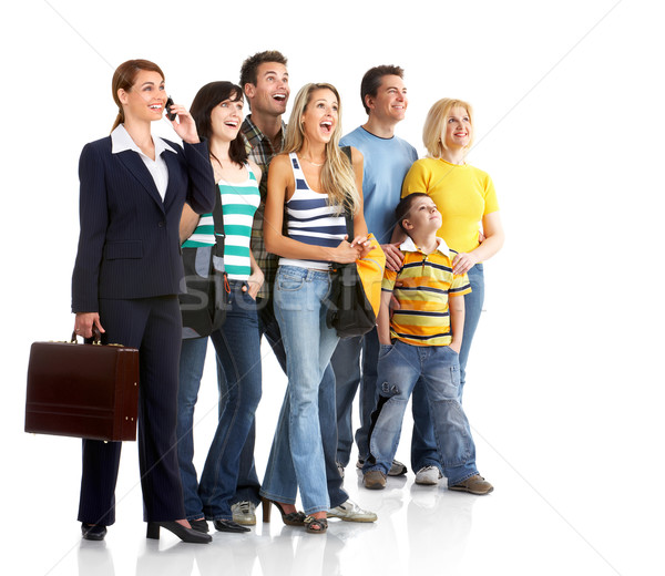 Emberek csoport fiatal mosolyog fehér üzlet Stock fotó © Kurhan