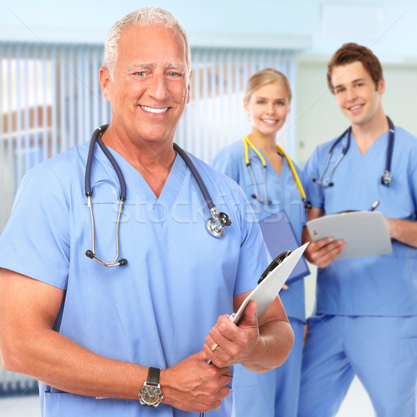 Doctor and nurse. Stock photo © Kurhan