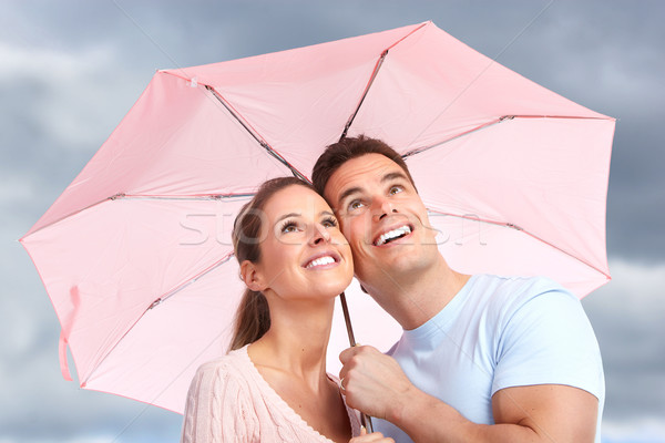 couple under umbrella Stock photo © Kurhan