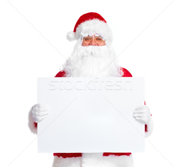 Santa Claus with banner. Stock photo © Kurhan