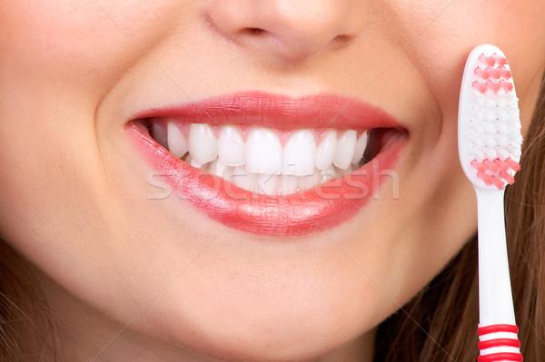 woman with tooth-brush Stock photo © Kurhan