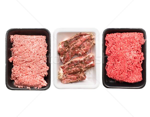 Raw ground meat Stock photo © Kurhan