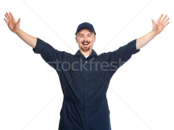 Happy Car mechanic. Stock photo © Kurhan
