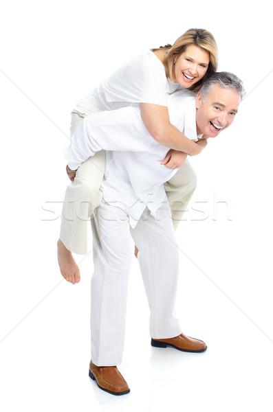 Ouderen paar gelukkig liefde geïsoleerd Stockfoto © Kurhan