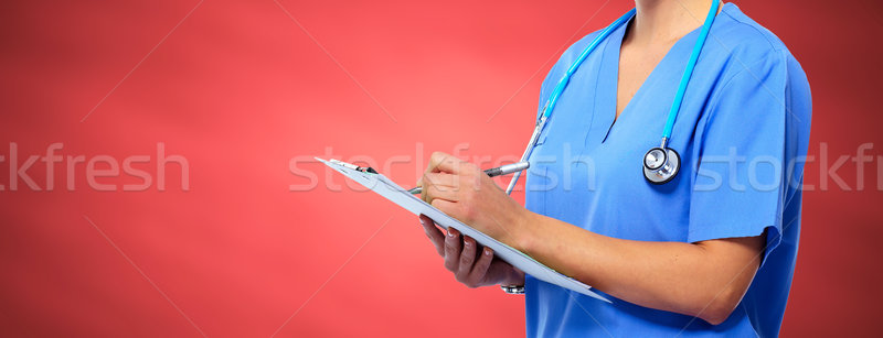 Hands of medical doctor woman. Stock photo © Kurhan