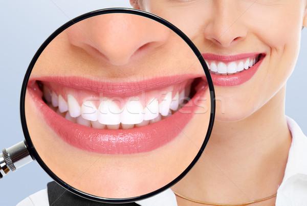 Bela mulher dentes dental saúde branqueamento Foto stock © Kurhan