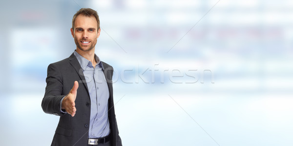 Businessman handshake Stock photo © Kurhan