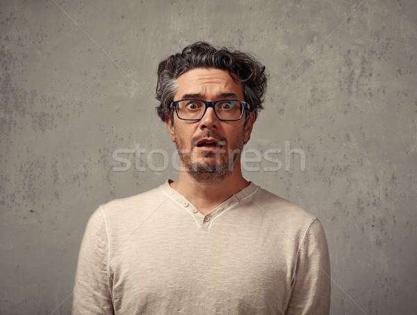 страшно человека молодым человеком портрет серый Сток-фото © Kurhan