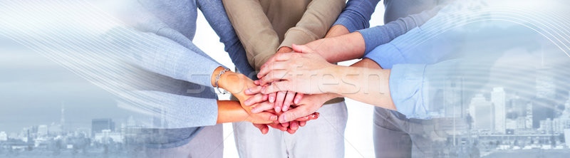 People hands together Stock photo © Kurhan