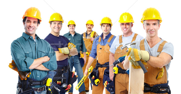 Stock photo: Group of professional industrial workers.