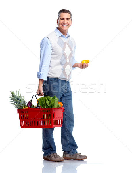 Man with a shopping basket. Grocery. Stock photo © Kurhan