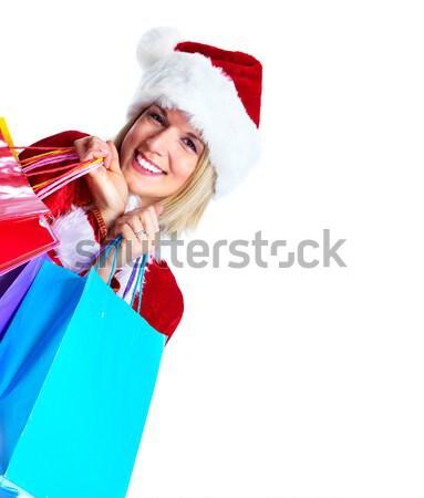 Christmas shopping woman with gifts. Stock photo © Kurhan