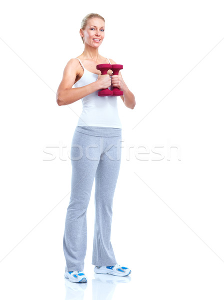 Stock photo: Fitness woman.