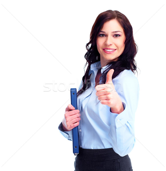 Stock photo: Young successful business woman.