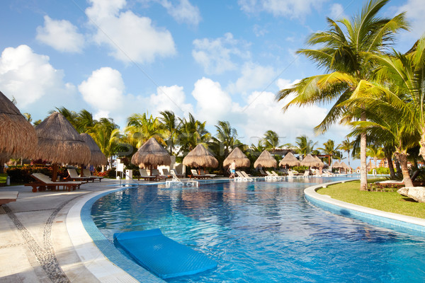 Swimming pool at caribbean resort. Stock photo © Kurhan