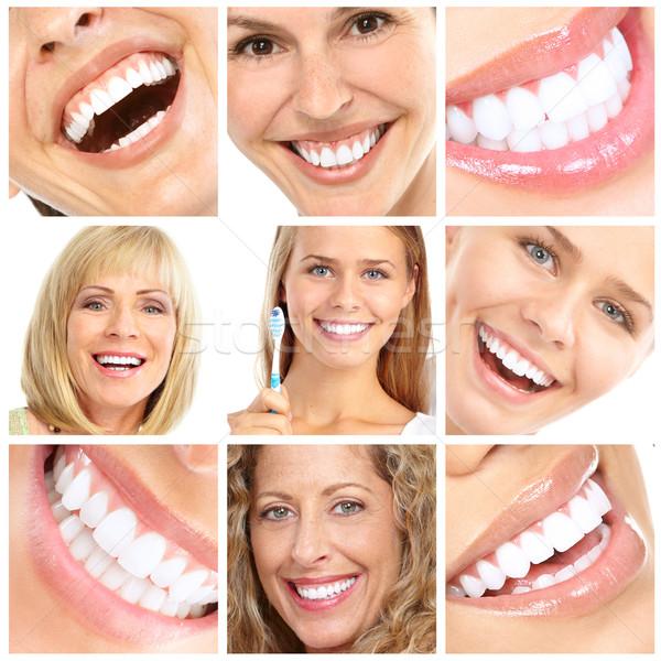 歯 歯の手入れ 顔 健康 口 ストックフォト © Kurhan