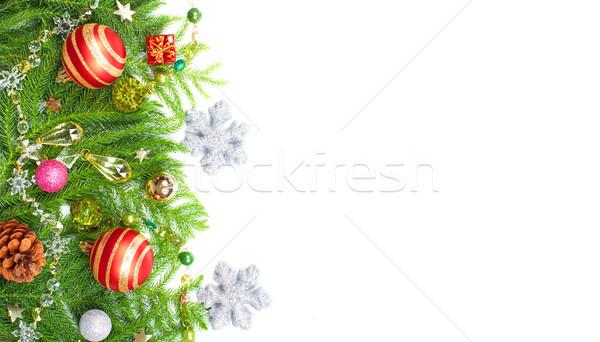 クリスマスツリー 装飾 美しい 孤立した 白 緑 ストックフォト © Kurhan
