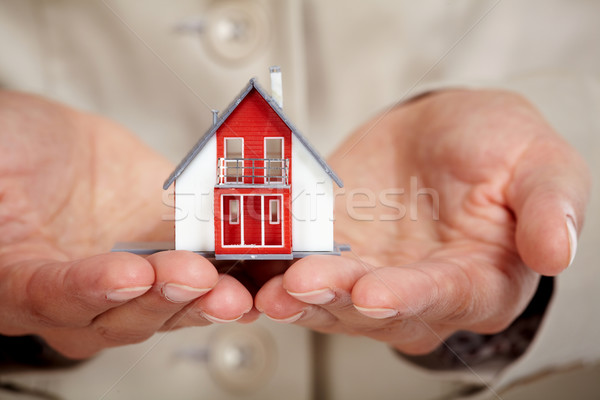Hands with little house. Stock photo © Kurhan