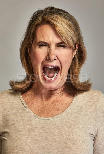 Angry screaming lady Stock photo © Kurhan