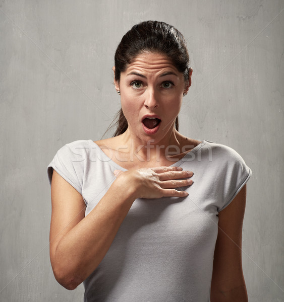 culpable woman face expression Stock photo © Kurhan