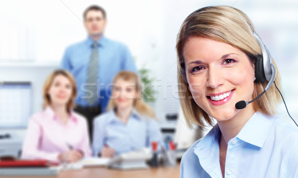 Call customer center operator. Stock photo © Kurhan