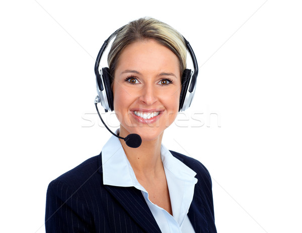 Call customer center operator woman. Stock photo © Kurhan