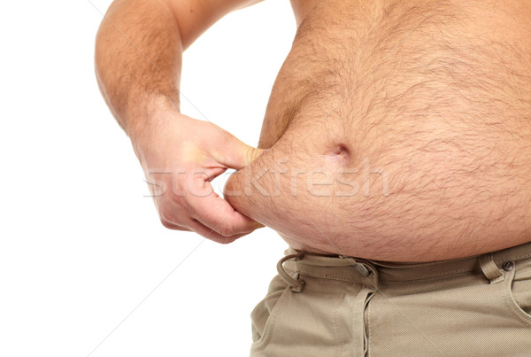 Stock photo: Fat man with a big belly.