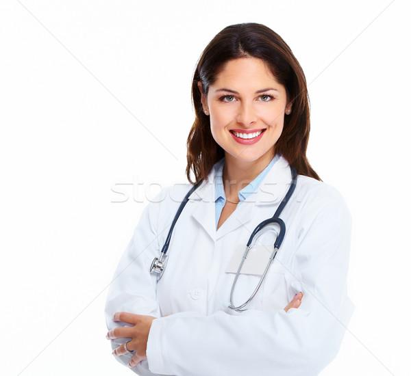 Orvos nő orvosi fehér háttér üzlet Stock fotó © Kurhan
