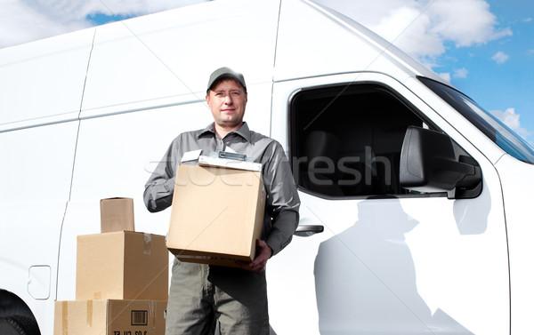Zdjęcia stock: Stanie · usługi · pocztowe · człowiek · szczęśliwy · zawodowych · wysyłki