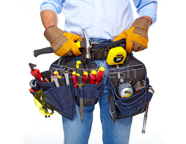 Worker with a tool belt. Construction. Stock photo © Kurhan