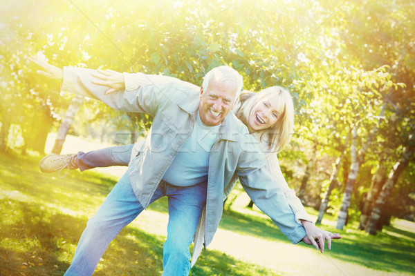 Old people over park background Stock photo © Kurhan
