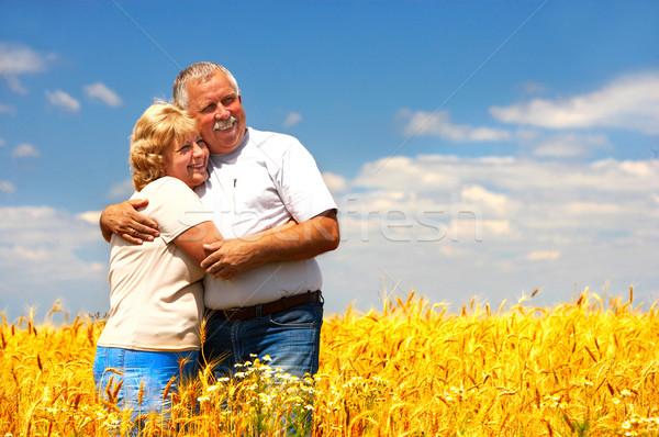 пожилого пару улыбаясь счастливым любви Открытый Сток-фото © Kurhan