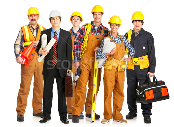 Builder people Stock photo © Kurhan