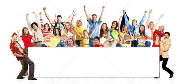 счастливым смешные люди изолированный белый семьи Сток-фото © Kurhan