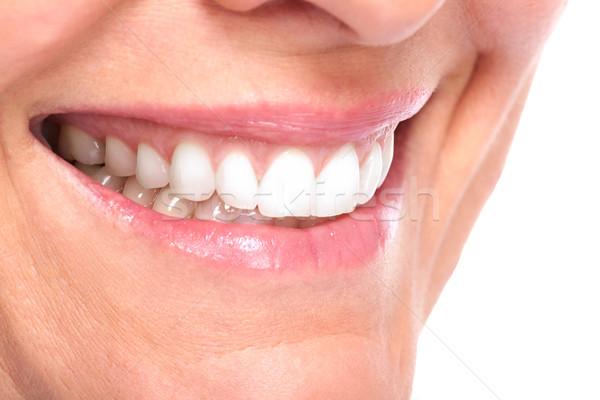 Piękna zdrowych uśmiech piękna kobieta białe zęby stomatologicznych Zdjęcia stock © Kurhan