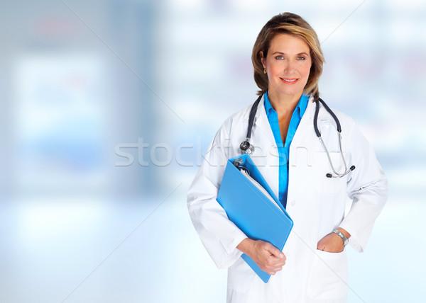 Elderly hospital doctor woman. Stock photo © Kurhan