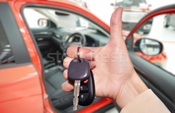 ドライバ 手 車のキー 新しい 車両 車 ストックフォト © Kurhan