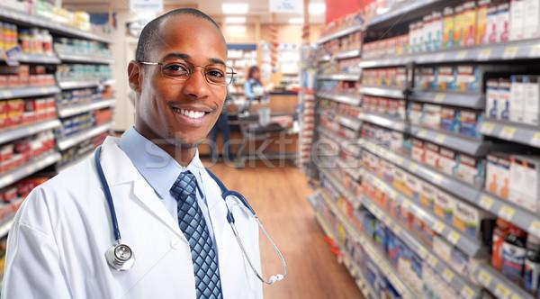 Stock photo: African-american Doctor pharmacist man.