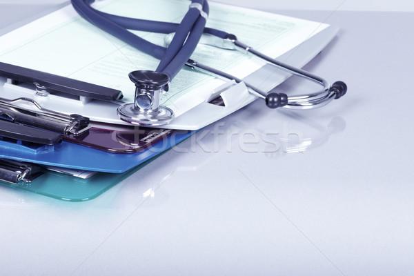 Stockfoto: Medische · stethoscoop · gezondheidszorg · dienst · achtergrond · tool