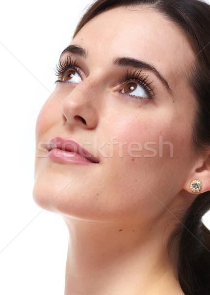 Piękna kobieta twarz piękna młoda kobieta piękna Zdjęcia stock © Kurhan