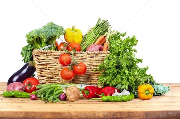 Organic vegetables in basket Stock photo © Kurhan