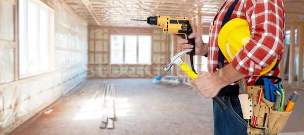 Foto d'archivio: Elettricista · trapano · builder · tuttofare · costruzione · strumenti