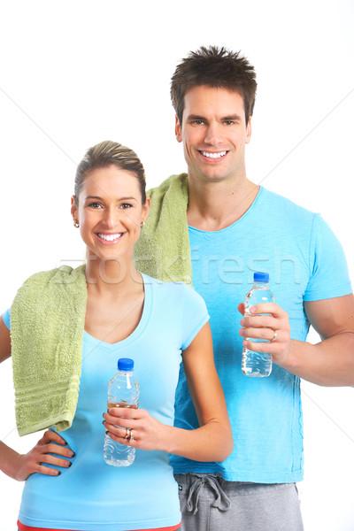 Fitness and gym. Stock photo © Kurhan