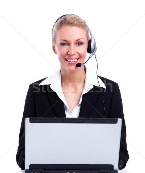 Call center secretary woman. Stock photo © Kurhan