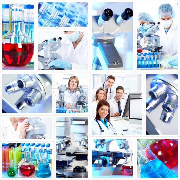 Científico colagem médico pesquisa médico trabalhar Foto stock © Kurhan