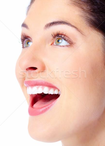 Bela mulher cara belo mulher jovem dental saúde Foto stock © Kurhan