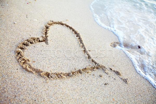 Heart on the beach. Stock photo © Kurhan