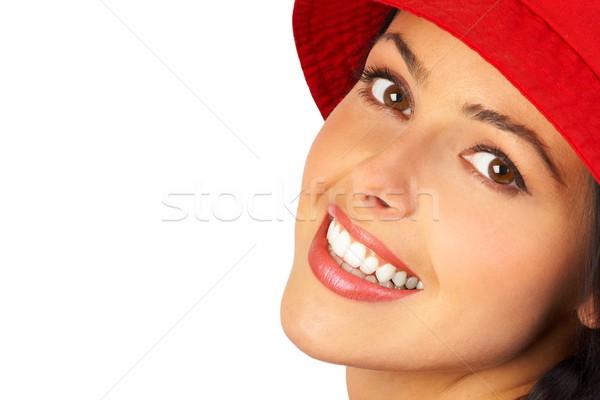 Bela mulher belo mulher jovem cara isolado branco Foto stock © Kurhan