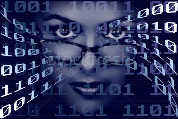 Stock photo: Binary Woman