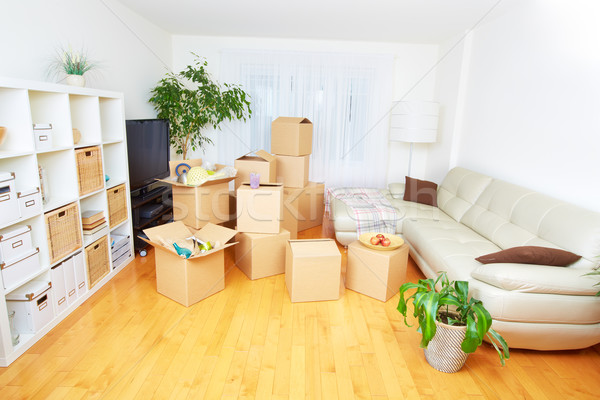 Moving boxes in new house. Stock photo © Kurhan